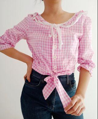 Pink Soda Crop Blouse