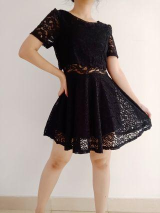 Black Brokat Dress