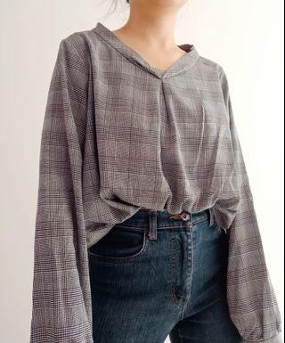 Plaid Casual Blouse