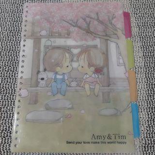 Amy&Tim26孔彩色分頁片(4入)