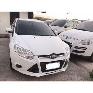 【FB搜尋桃園阿承】福特 超人氣FOCUS 2014年 1.6 白色 二手車 中古車