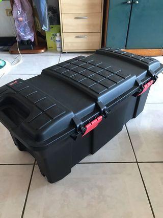 65L黑色附輪儲物箱