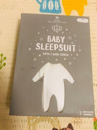 Baby Sleepsuit Off White