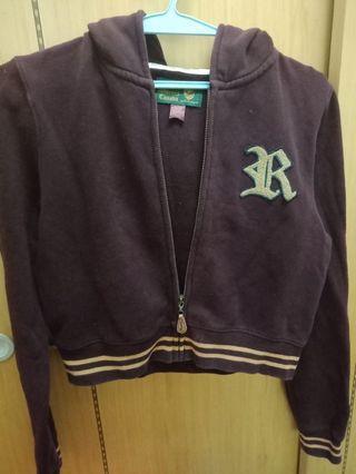 Roots 棗紅色短版外套,八成新,有調整價位,因為這件只穿2次