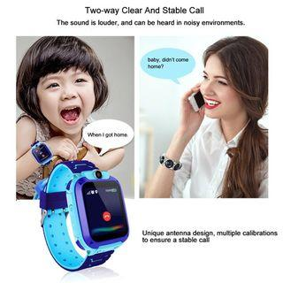 Q12 Kids Smart Watch Accurate GSM LBS Tracker Waterproof SOS Anti-Lost Children Color Touch Screen Camera Jam Pintar English version