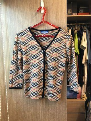 二手正品Burberry 針織毛料上衣(日本製)絕版復刻