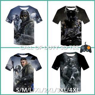 Tshirt Call of Duty 3D tee fit size S/M/L/XL/XXL/3XL/4XL