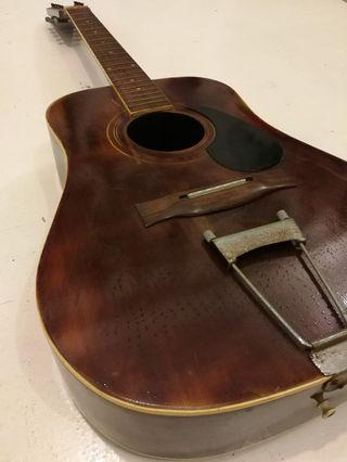 Vintage 12 Strings Acoustic Guitar Body Only Made in Korea