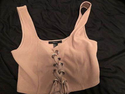 Cropped tank size small