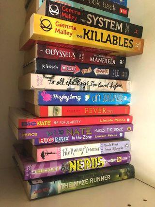 Well kept books for sale (45 books)
