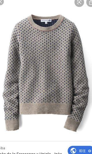 Uniqlo X INES DE LA FRESSANGE 合作款毛衣