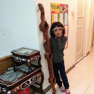 原木雕刻三口交杯酒擺件/原民手作/非完美精細藝術品,純粹創作。尺寸約:長133.2公分