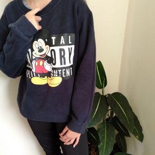 Korean MICKEY PARENTAL ADVISORY Oversized Sweater