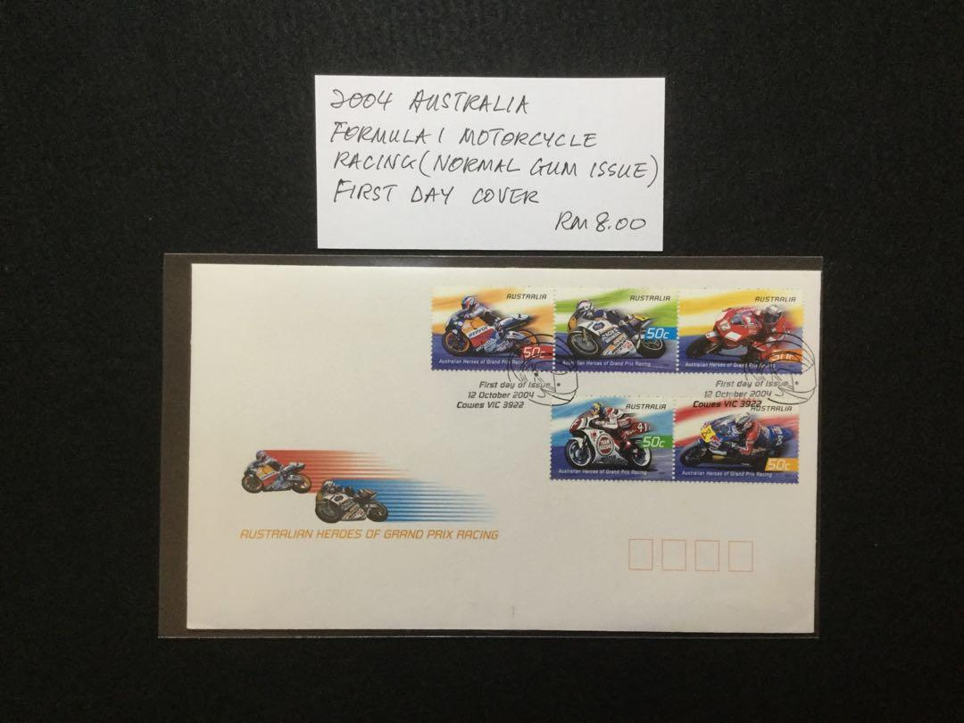 2004 Australia Formula 1 Motorcycle Racing (Normal Gum Issue) FDC