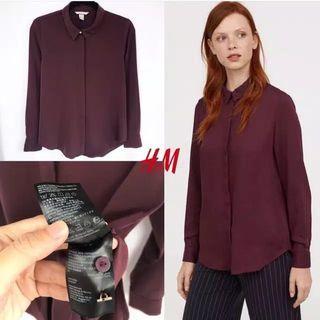 [NEW] H&M Blouse Merah Maroon
