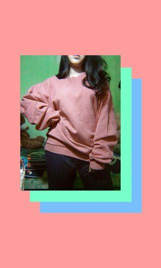 Sweater oversize pink fanta