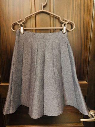 氣質鋪棉灰裙