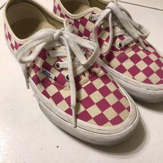 Vans Authentic粉紅棋盤格