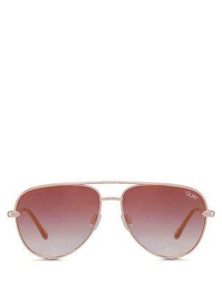 免運 Quay | High Key Mini 玫瑰金/粉 迷你版飛行員造型鏡面太陽眼鏡