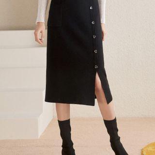 衣香麗影顯瘦半身裙女中長款裙子41755