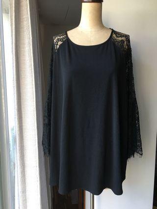 美國購入Kaari 黑色蕾絲花秀上衣  #剁手時尚