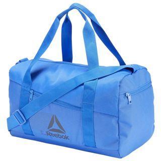 """ACTIVE FOUNDATION GRIP DUFFEL BAG SMALL "" Reebok 全新 藍色 S 行李袋 旅行袋 肩背包 運動包 健身包 訓練包 裝備袋 DU2998"