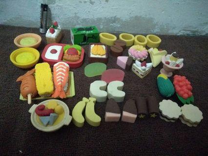 Miniature food material rubber
