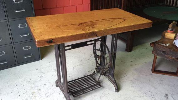 Chengal Wood with sewing machine table