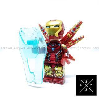 Lego Compatible Marvel Minifigures : Iron Man MK85 (End Game Battle Suit)