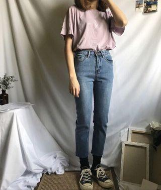 全新✨超熱賣高腰九分牛仔褲 #Teafor2_購入