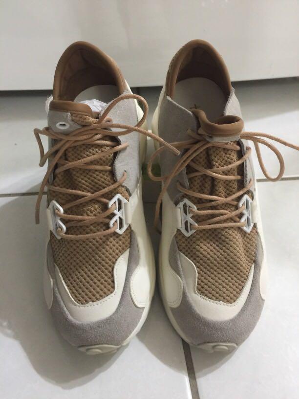 清我媽的衣櫃-棕色純淨系增高老爹鞋