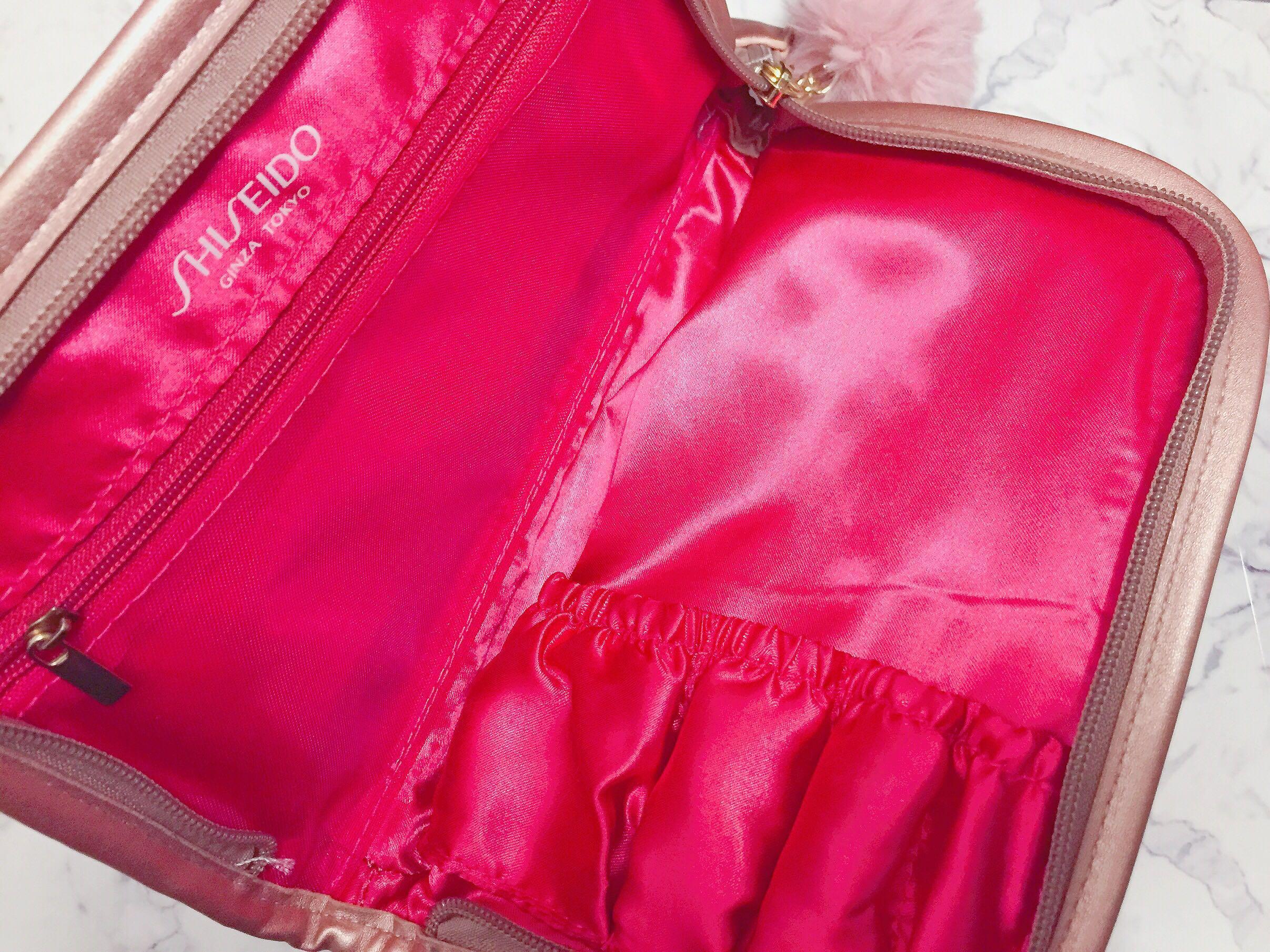 資生堂國際櫃質感刷具收納化妝包