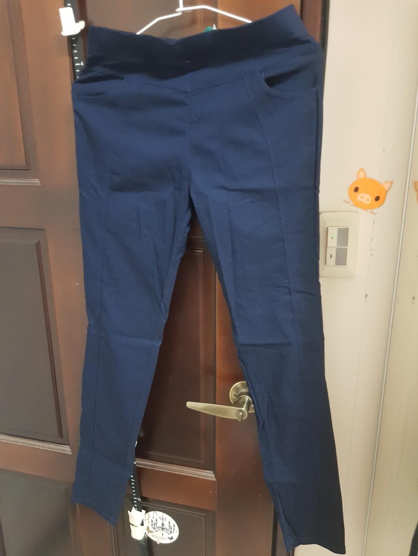 藍色超彈,有透氣的休閒褲