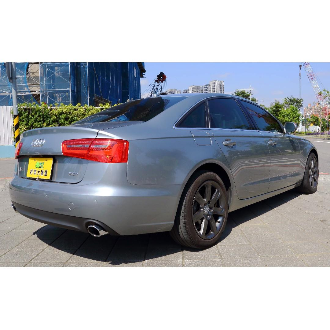 旭騰車業 HOT大聯盟認證 2012/13 Audi A6 2.0T 銀藍色 車美 狀況優 好操控