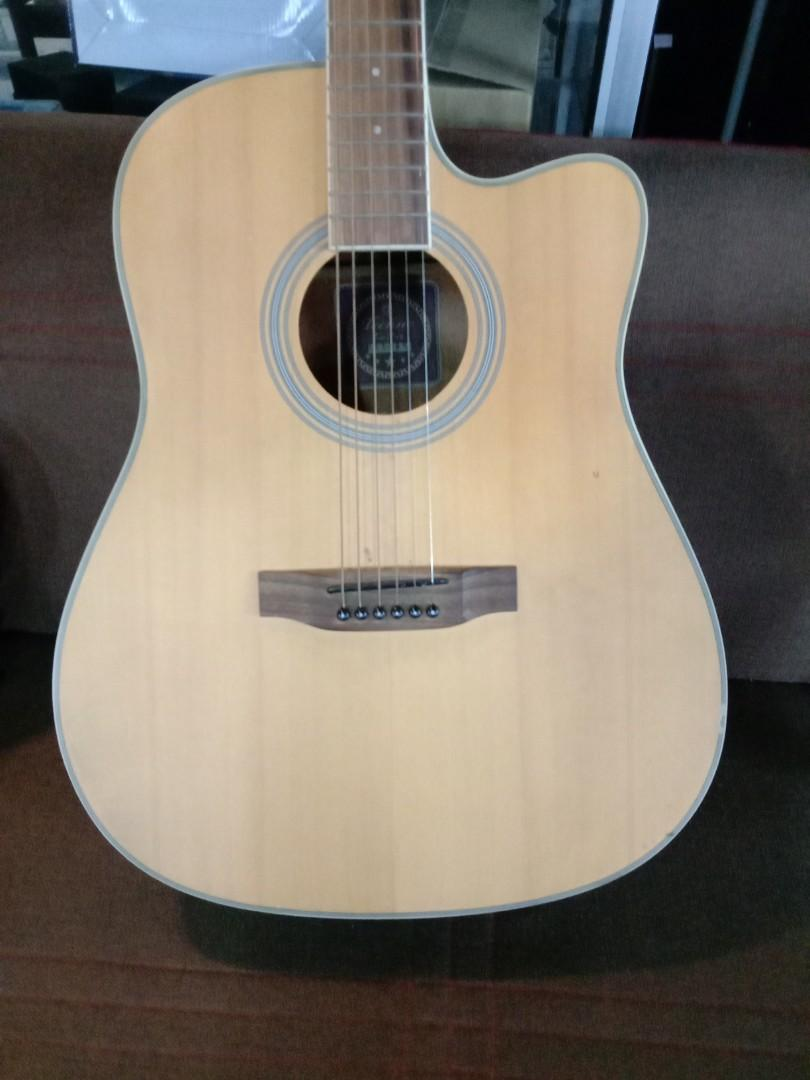 Acoustic Guitar with cable.