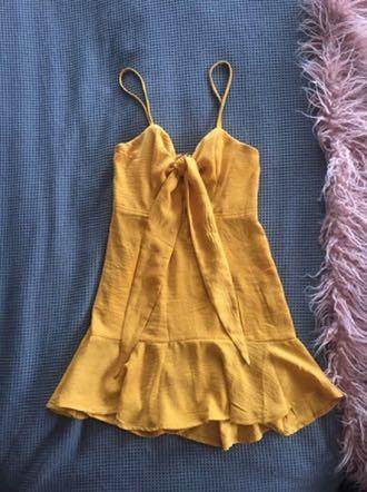 Alayna Mini Dress- Mustard by Saints and Secrets Size 6