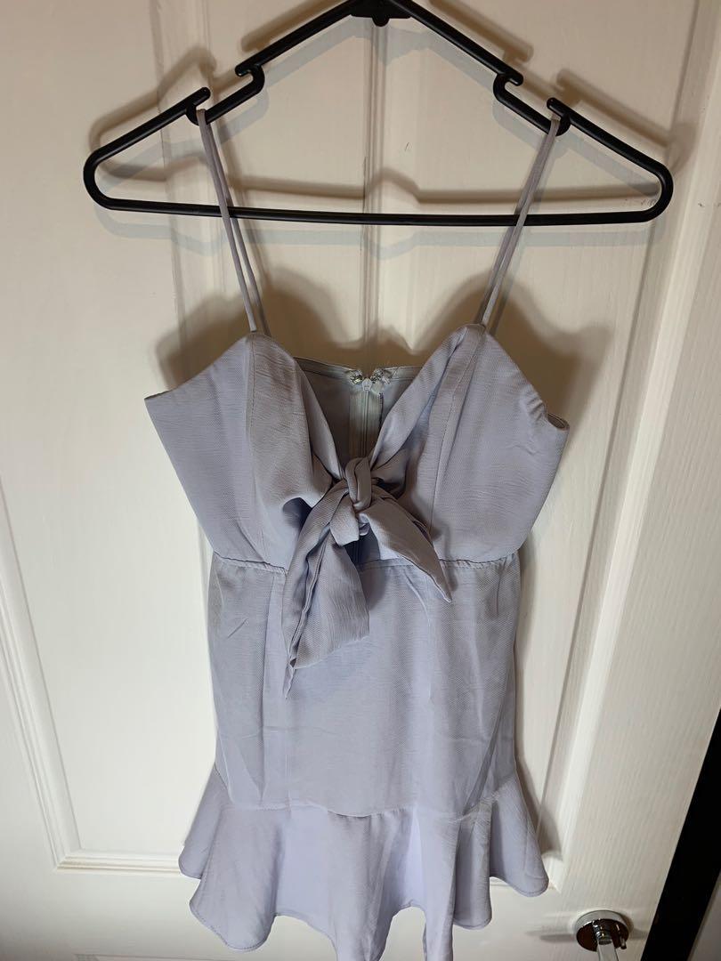 Alayna Mini Dress- Pale blue by Saints and Secrets