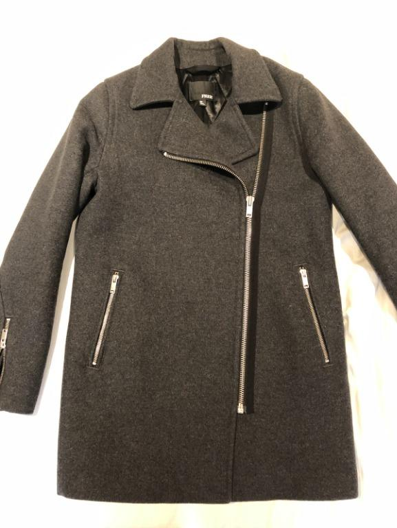Aritzia - Wilfred Free Dark Grey Wool Coat SIZE XS