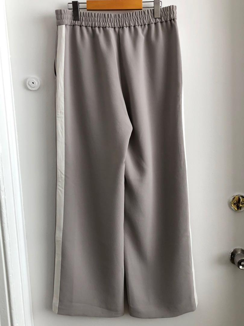 ARITZIA WILFRED TUXEDO STRIPE DRESS PANTS SIZE LARGE