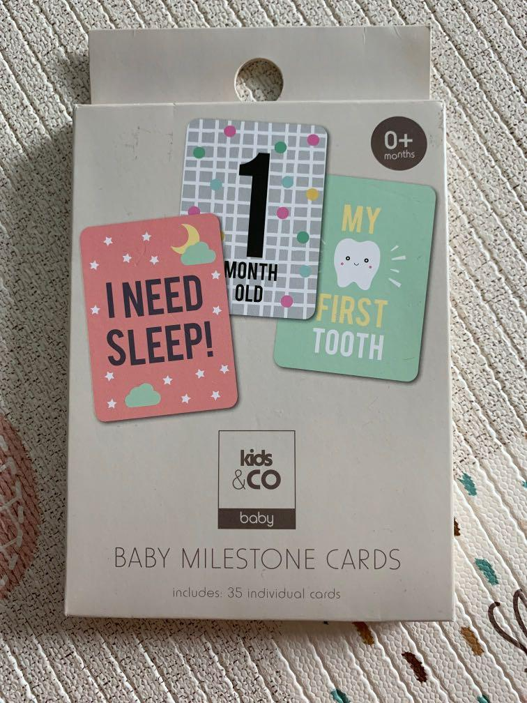 BN Baby milestone cards (35 individual cards)