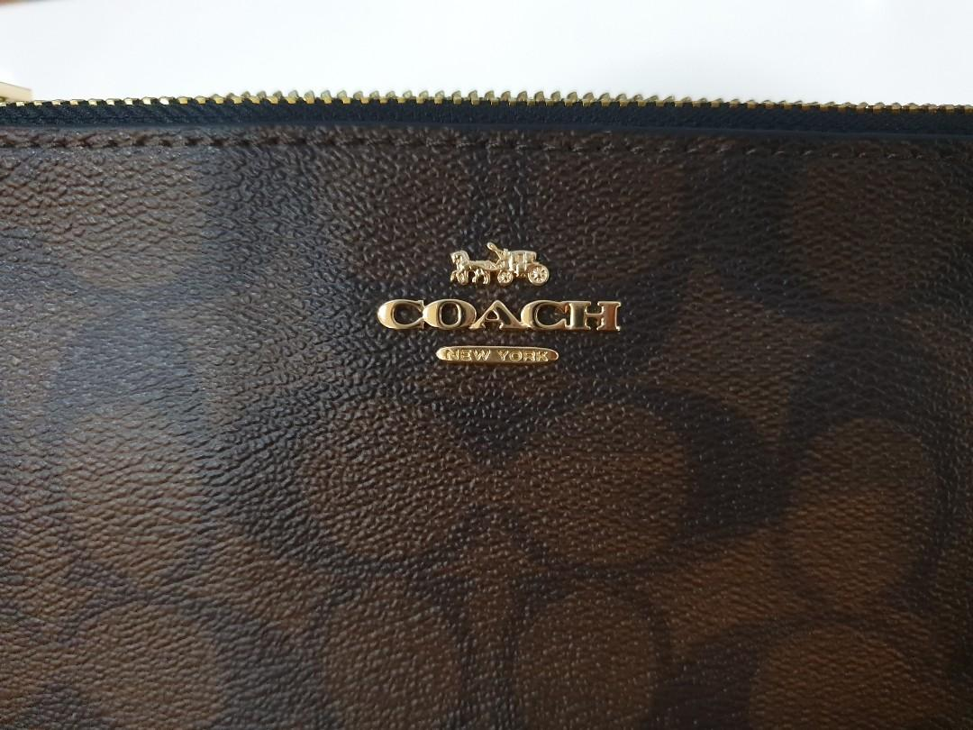 Coach Wrislet PVC Double Zipper Colour slot 6 cards