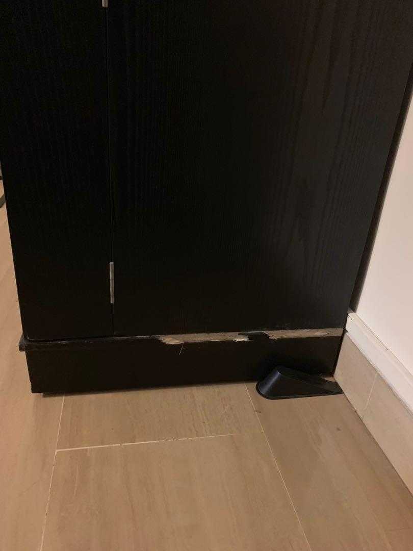 Crate & Barrel Mobile Bar Cabinet