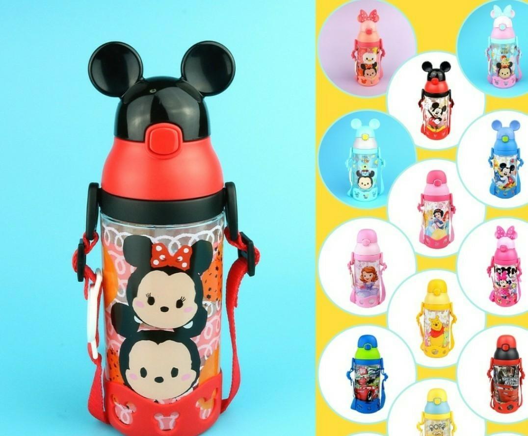 Disney Tsum Tsum Red Mickey BPA Free Bottle + Free extra Straw