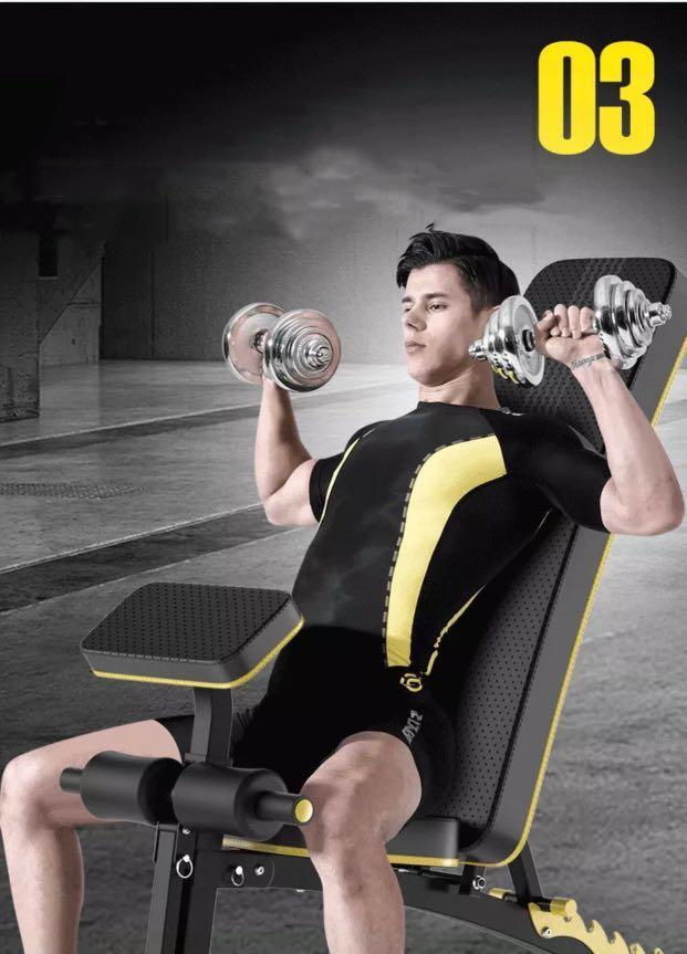 Dumbbell bench Fitness Chair Sit-ups Fitness Equipment Home Multi-Function Aid Supine Board Fitness Bench Stool