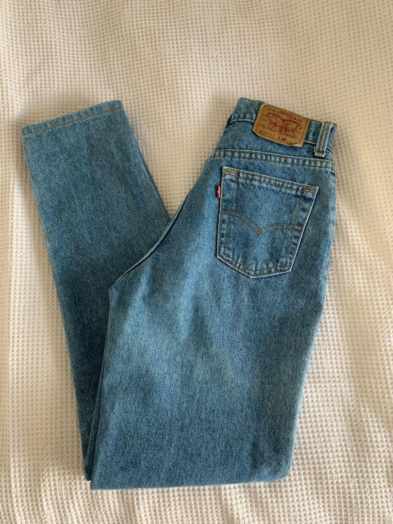 Excellent condition extreme high waisted 510 Levi's