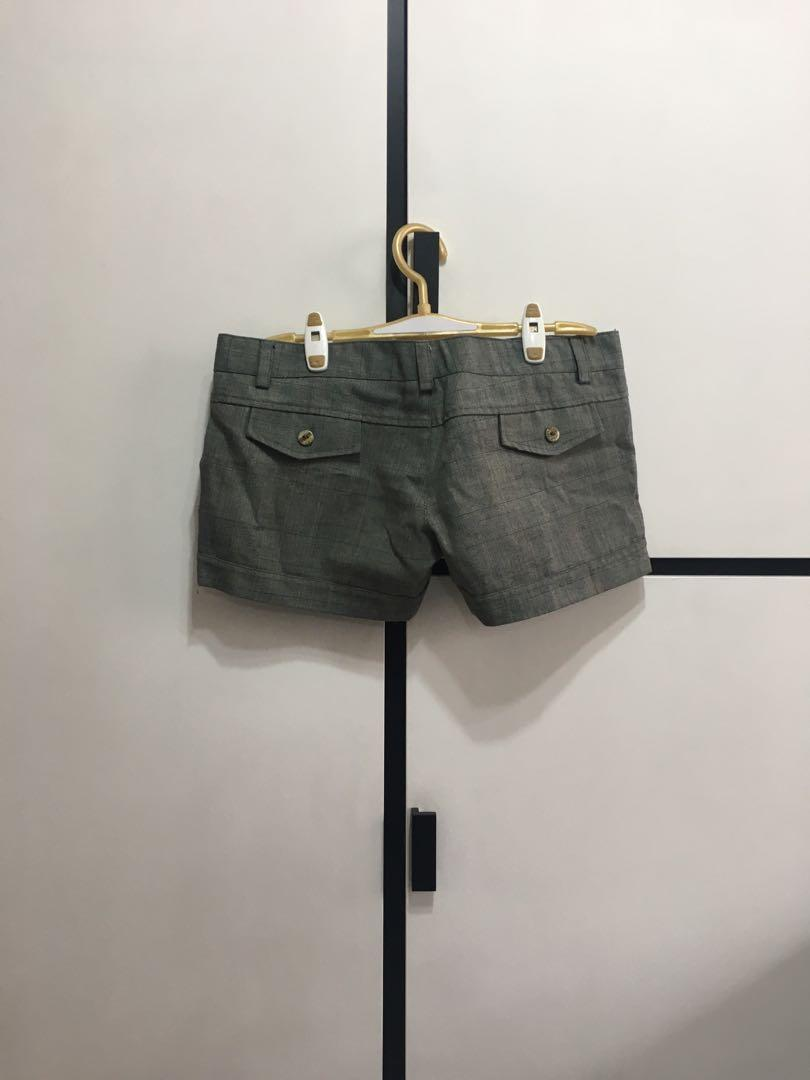 Grey Low Waist Shorts