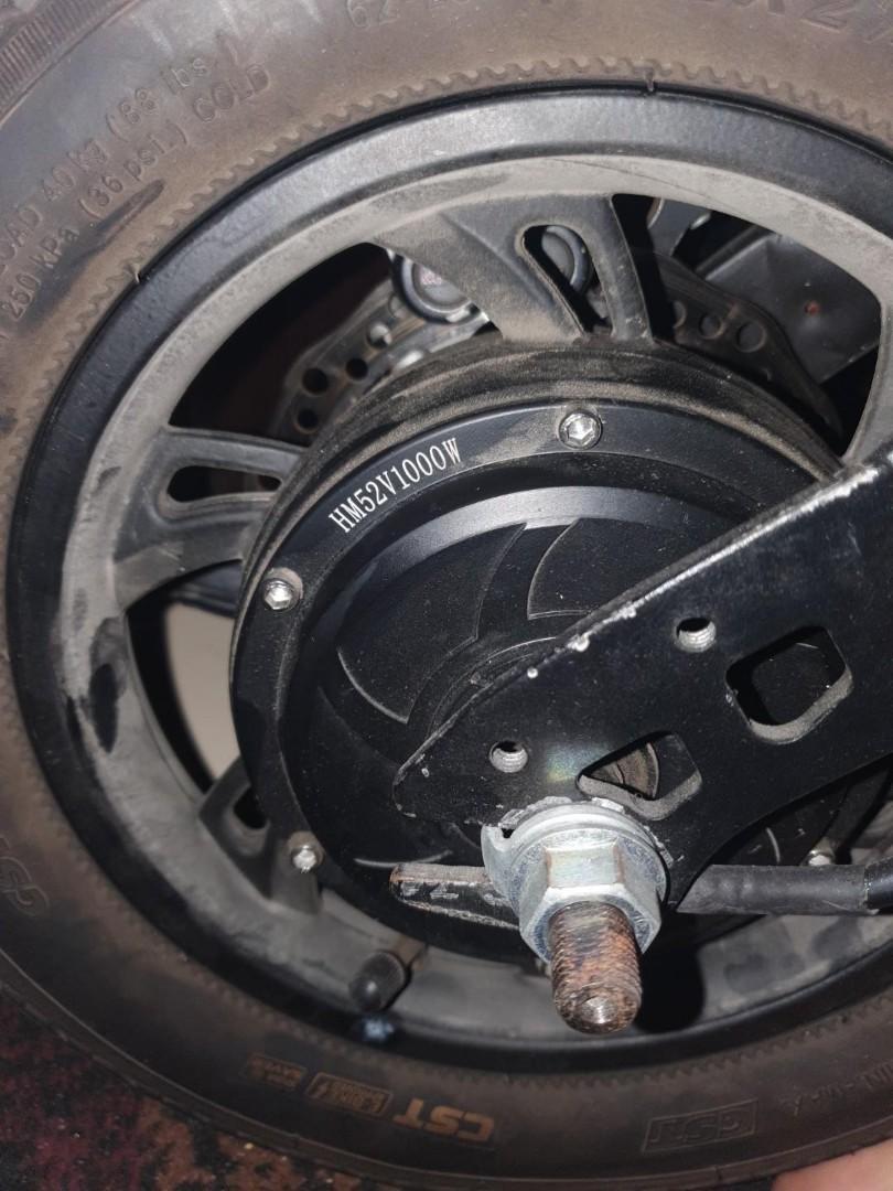 HM Motor 52v 1000w x2 (Single Phase) YYK 36-72v 40a Controller x1 #Deshelled