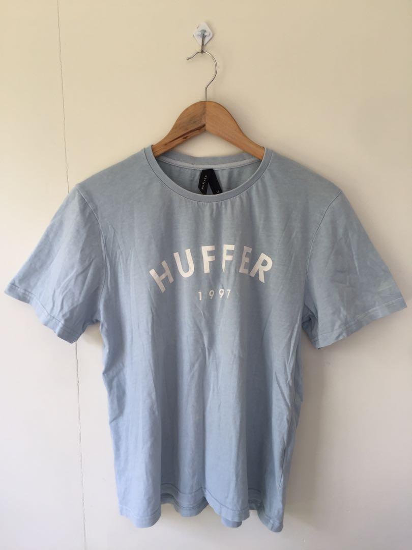 Huffer tee shirt baby blue women's