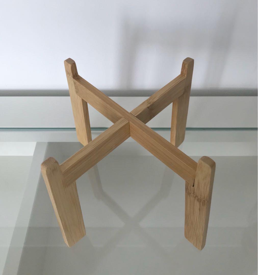 Ikea Nyskordad Wooden Plant Stand