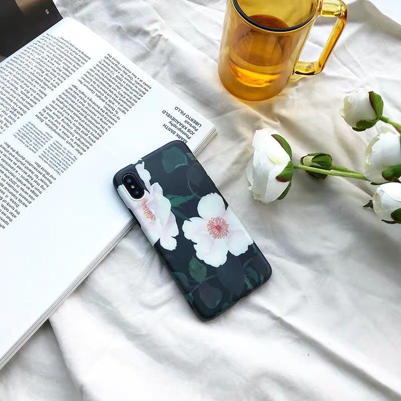 蘋果iphone11xsmax7P春夏可愛花ins風女文藝手機殼📱500運50